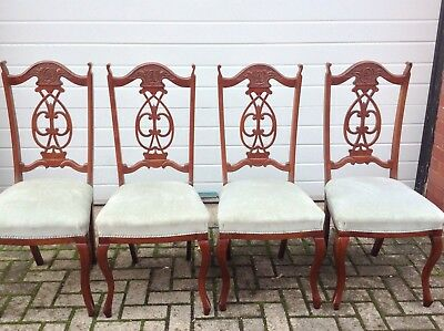 Was£89.99 Now £79.99 Set Of Four Ornate Antique Style Salon Dining Chairs
