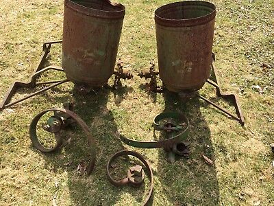 ! REDUCED! Antique John Deere 2 Row Seed Planter And Accessories