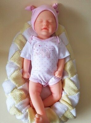 """18"""" Full Body Silicone Baby Girl With Drink and Wet System - *Damaged Stock*"""