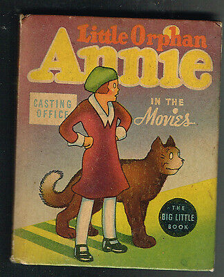 LITTLE ORPHAN ANNIE in the MOVIES  Big Little Book BLB  # 1416   HC  1937