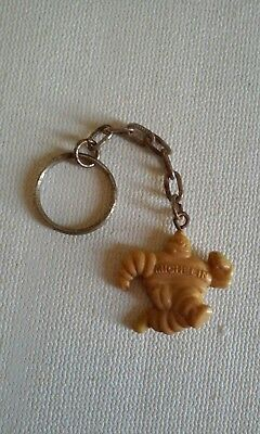 Vintage Michelin man Bibendum  Keychain Key Ring Fob Running Tire  Advertising