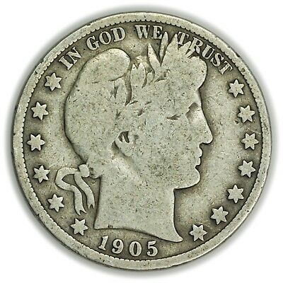 1905-S Barber Half Dollar, Large, Silver Coin [3781.04]