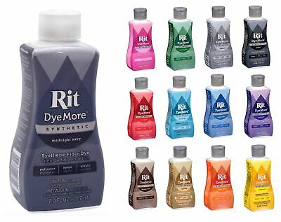Rit DyeMore Advanced Liquid Dye Synthetic Polyester Nylon Acrylic Clothing 207ml