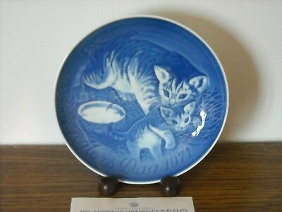 Vintage Bing & Grondahl 1971 Cat & Kitten Mother's Day Collector Plate MIB