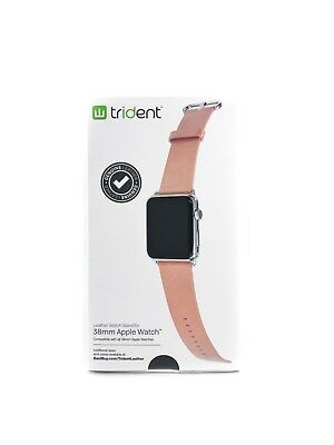 Trident - Genuine Leather Watch Strap for Apple Watch 38mm - Light pink - New