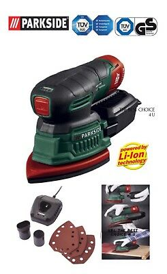 PARKSIDE® 12V Cordless Detail Sander ( Full Set ) Uk 3 Pin Plug