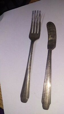 VINTAGE REED & BARTON STYLIST PATTERN Butter Knife and Fork