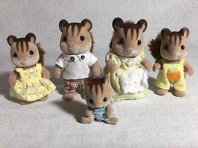 Calico Critters/sylvanian Families Squirrel Family Of 5