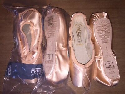 FREED OF LONDON Custom Classics Pointe Ballet Shoes Size 4 T XX DV BRAND NEW!