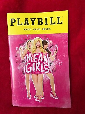 Broadway Playbill - Mean Girls, May 2018, Obc, Tina Fey