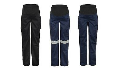 Ladies Maternity Work Cargo Pants 100% Cotton 245GSM  Work Wear