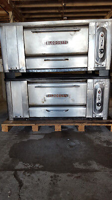 Blodgett Double Stack 1000 Pizza Ovens Natural Gas Tested Stone Deck