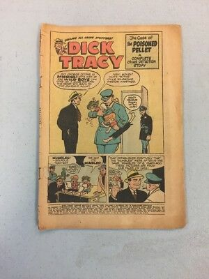 Dick Tracy Vol. 1 #122 MISSING COVER Low Reader Grade 1958
