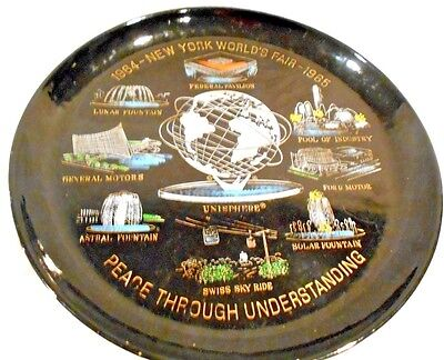"1964 New York World's Fair 10.5"" Tray made by US Steel-Unisphere Souvenir"