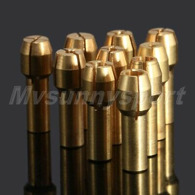 HQ 4.8mm Shank Brass Collet Adapter Nut 0.5mm-3.2mm Grinder Drill Rotary Tool