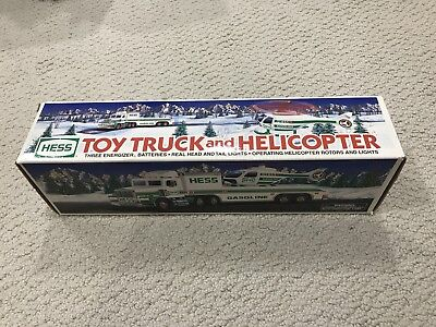 1995 Hess Truck And Helicopter - New In Box