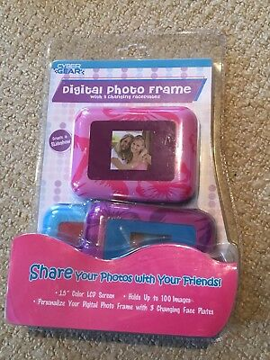 BNIB Digital Photo Frame With 3 Changing Faceplates - Create Slideshow - Ages 6+