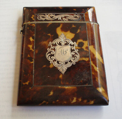 Card Case,  3 x 4 inches decorated with silver, circa 1900