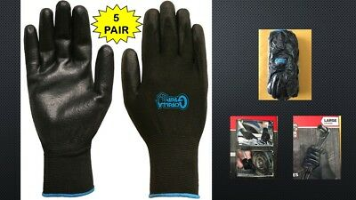 Grease Monkey Gorilla Grip Gloves - SIZE LARGE ( 5 Pair Pack )