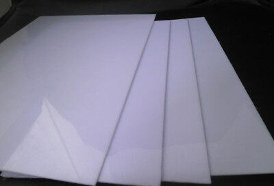 "White Acrylic Plexiglass 1/4"" You Pick The Size - Plastic Sheet Perspex"