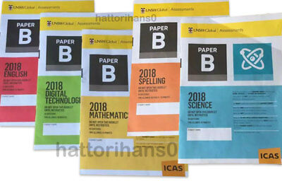 ICAS 2018 Past papers Year 4 (Paper B) all subjects  with answers