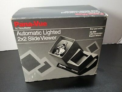 Pana-Vue FPA005 Illuminated Auto Slide Viewer for 35mm Up to 36 Slides New