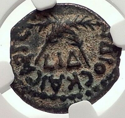 CLAUDIUS & AGRIPPINA Jr Ancient Roman Jerusalem ANTONIUS FELIX Coin NGC i70982