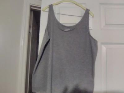 Eileen Fisher L Tank Top Gray NWT $88