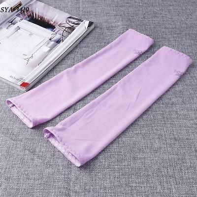 New Women Outdoor Sports Skins Arm Sleeves Sun Protective Cover Purple