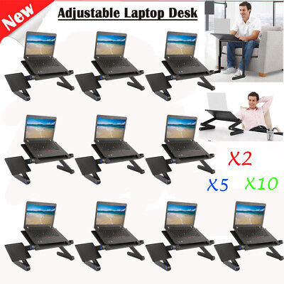 10 360°Adjustable Folding Laptop Table Lap Desk Bed Portable Computer Tray Stand