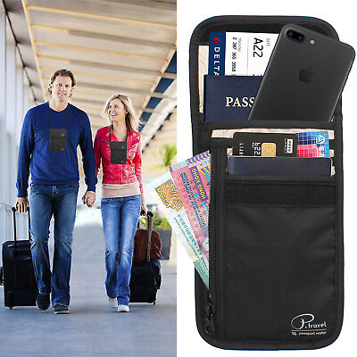 New ! RFID Blocking Anti Scan Travel Passport Credit Card Wallet Holder Pouch