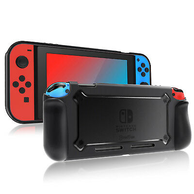 For Nintendo Switch Case Slim Hybrid Protective Cover with Ergonomic Grip Design