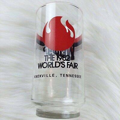 Wendy's 1982 Worlds Fair Historic Memorabilia Knoxville Tn Drinking Glass