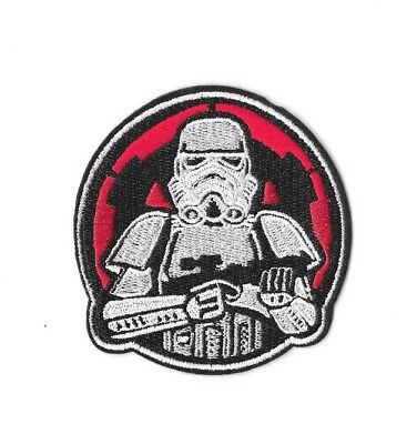 STORMTROOPER Iron on / Sew on Patch Embroidered Badge Movie Star Wars PT232