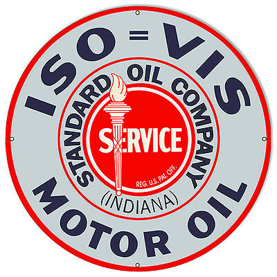 Extra Large Format ISO VIS Standard Service Motor Oil Sign 30 Round