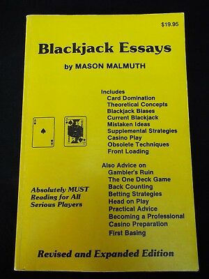 Blackjack Essays by Mason Malmuth (Revised and Expanded) Casino Gambling RARE
