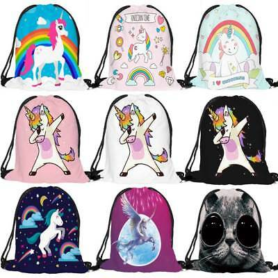Unisex Bag Nylon Drawstring Cinch Sack Sport Travel Outdoor Backpack Bags New