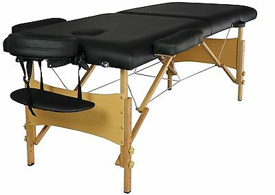 "New BestMassage 2"" Pad 84"" Black Massage Table Free Carry Case Bed Spa Facial T"