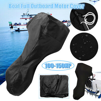 "Boat Full Outboard Motor Engine Cover Fits Up to 100-150HP 81x85x70"" Waterproof"