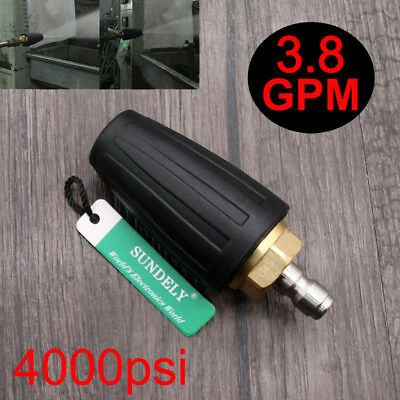 """4000PSI 3.8GPM Pressure Washer Black Rotating Turbo Nozzle With 1/4"""" Quick Plug"""