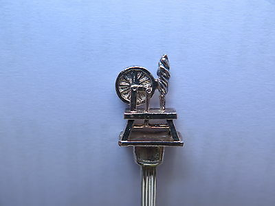 SPINNING WHEEL EPNS SILVER SPOON MADE in ENGLAND WALES in the BOWL