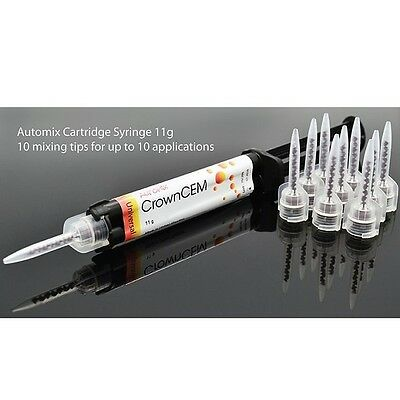Automix Cartridge Syringe Adhesive Crown Bridges Inlays Onlays Implants Veneers