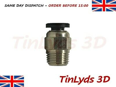 PC4-01 Pneumatic Connector for J-Head Bowden Extruder - PC4-M10 Push Fit - PTFE