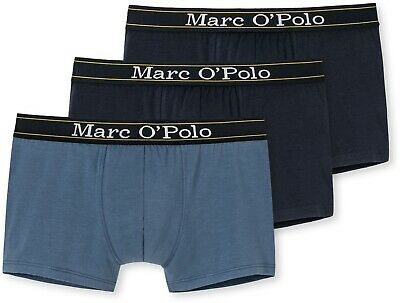 MARC O'POLO 3er Set Retropants / Hipster / Herrenunterwäsche (Navy/Blau)