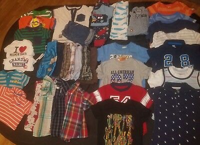 BOYS 12-18 MONTHS SUMMER ROMPER SHORTS SHIRTS CLOTHING LOT Old navy Carters TCP
