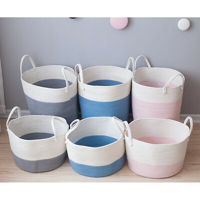 Laundry and Storage Cotton Rope Clothes Toys Basket Room Décor Photography Props