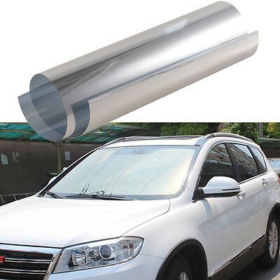 1Pcs Silver Auto Side Window Solar Film Tint 0.5Mx3M UV Explosion-proof Film Bid