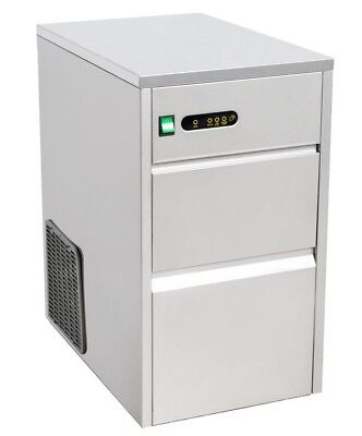 Commercial Under Counter Ice Cube Machine Maker 20kg 24hr Stainless Steel