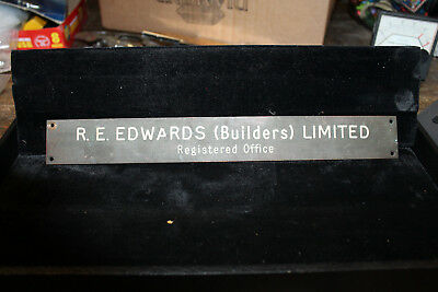 """Solid Bronze Door Name Plate 1.5""""X12"""" United Kingdom R.E. Edwards Limited"""