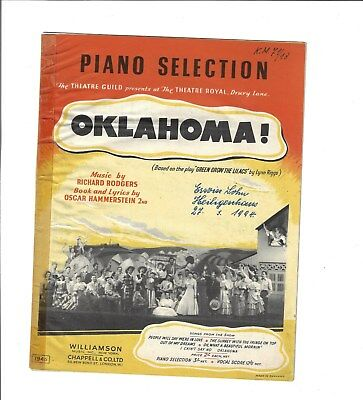 OKLAHOMA! - Piano Selection * Noten für Klavier